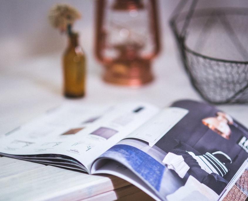 Anzeigen in lokalen Magazinen